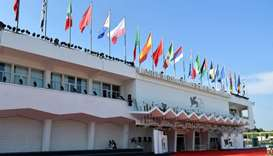The Palazzo del Cinema is pictured on the eve of the opening of the 76th Venice Film Festival at Ven
