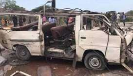 Somalia blast kills at least 10 on minibus