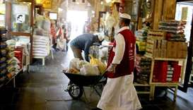 Garangao Shopping at Souq Waqif.  PICTURES: Jayan Orma