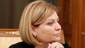 Russia's Culture Minister Olga Lyubimova attends a meeting of the new cabinet chaired by Prime Minis
