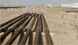 Burgan oil field pipelines
