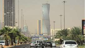 Saudi commuters drive down a main street in the capital Riyadh (file). Saudi Arabia's non-oil econom