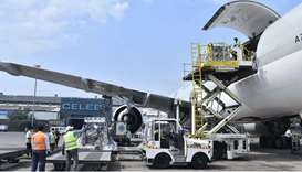 India thanks Qatar Airways for transporting oxygen cylinders from UK
