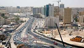 A section of the A-Ring Road development project.