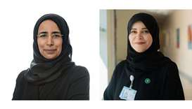 HE Dr Hanan Mohamed al-Kuwari, left, and Mariam al-Mutawa