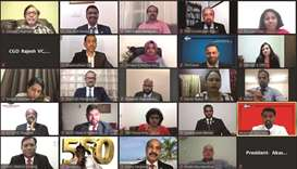Doha Toastmasters Club (DTC), the first toastmasters club in Qatar to achieve the meeting no 550 mil