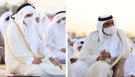 Amir, Father Amir perform Eid Al Fitr prayer