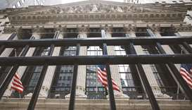 The front facade of the New York Stock Exchange. Earnings reports from major retailers will be in fo