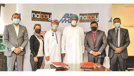 Nabay.com founder and chairman Nabeel Jawad Sultan, and MHD-ITICS chief investment officer Mohamed A