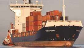 File photo of container carrier, the Asiatic Island that was supposed to be used for shipping arms t
