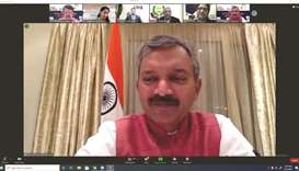 Screenshots of the virtual gathering.