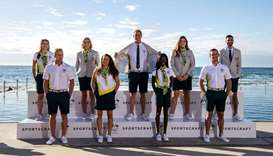 The Australian Olympic Team Opening Ceremony uniform is unveiled in Sydney