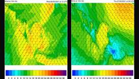 Strong winds, blowing dust from Wednesday