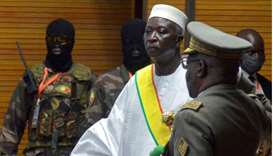 The new interim president of Mali Bah Ndaw is sworn in during the Inauguration ceremony in Bamako, M