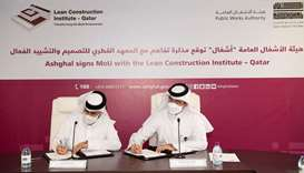 Ashghal teams up with LCI-Qatar to promote Lean thinking