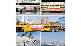 Oxygen cylinders, concentrators head to India aboard naval ship