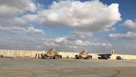(File photo) US military vehicles at Ayn al Asad air base in Anbar province, Iraq, January 13, 2020.