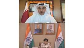HE the Minister of Commerce and Industry Ali bin Ahmed al-Kuwari has met with Piyush Goyal, India's