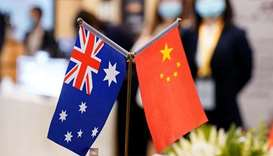 (File photo) Australian and Chinese flags. (Reuters)