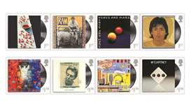 A combination image of eight Royal Mail stamps created in honour of Paul McCartney shows his various