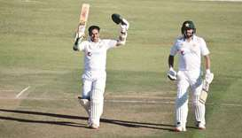 Abid and Azhar tons put Pakistan in strong position