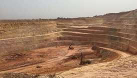 A gold mine in Siguiri province
