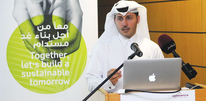 QGBC managing director Meshal al-Shamari addressing the event.