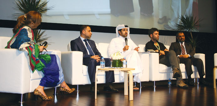 Al-Mannai with other speakers at the panel discussion.