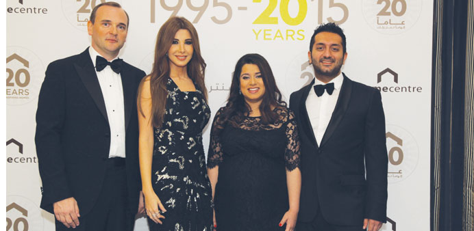 Nancy Ajram with Mederic Payne, Aarti Jagtiani and Savitar Jagtiani, business head, LandmarkShops.co