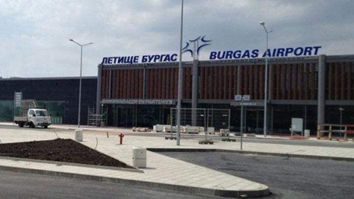 Burgas airport in Bulgaria where the plane landed.