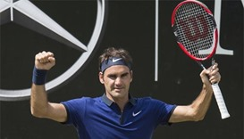 Stuttgart match win sets another Federer record