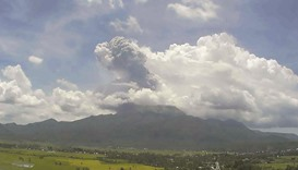 Spectacular ash explosion at volcano in eastern province