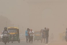 Dust storm in capital