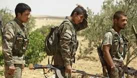 Fighters from the syrian Democratic Forces (SDF)