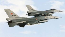 Turkish warplanes