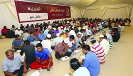 QC tent hosts 200 workers every day
