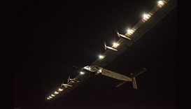 Solar Impulse 2 aircraft in New York after Statue of Liberty fly-by