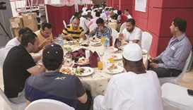 Rota organises Iftar for construction workers in Shamal Municipality