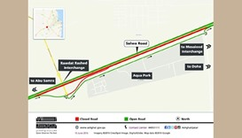 Stretch of Salwa Road to be closed on two nights