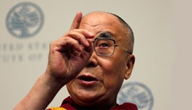 The Dalai Lama speaks at the U.S. Institute of Peace in Washington, DC., US on Monday