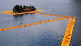 Christo fans told rain may prevent walking on water
