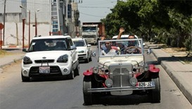 Palestinian's classic car replica turns heads in Gaza
