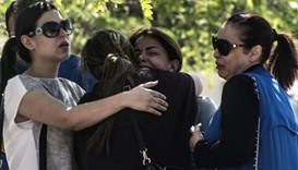 Relatives and friends of the cabin crew and passengers, who were on board the EgyptAir plane that cr