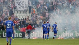 Croatia gets suspended ticket ban, fine for crowd trouble