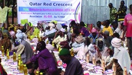 People in Chad holds Ramadan Iftar.
