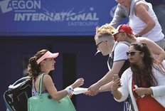Radwanska pleased with speedy Eastbourne victory