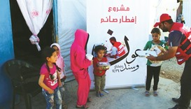 QRCS brings succour to Syrians, Palestinians in Lebanon