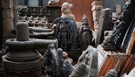 Recoverd antique idols and artefacts looted by an art dealer