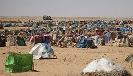 A camp for displaced people in Sudan's war-torn Darfur