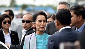 Myanmar's Suu Kyi met by frenzied fans on visit to Thailand